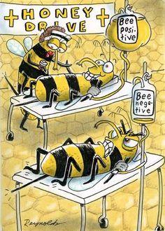 Always Bee Positive. Never Bee Negative. Honey Bee Pictures, Honey Bee Images, Medical Humor, Nurse Humor, Honey Bee Cartoon, Nurse Cartoon, Lab Humor, Bee Art, Bee Theme