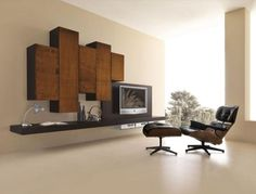 Modern Wall System for High Definition LCD and Plasma TVs Italian Furniture, Modern Furniture, Home Living Room, Living Spaces, Tv Nook, Modern Wall Units, Tv Decor, Home Decor, Pinterest Home