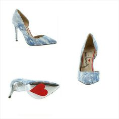 Luichiny Disco Step Denim D'orsay Pump These pumps pair well?with white or blue distressed jeans and a blue denim shirt or white shirt for the spring and summer. Prices are marked at the lowest, so prices are firm. Only Bundles receive discounts. For sales, subscribe to newsletter through Obsessive Shoe Addict Website and follow on Instagram.  4 inch heel Padded footbed Distressed fabric upper Fits true to size Shoes Heels