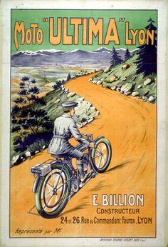 Vintage Travel Poster - Moto Ultima, Lyon.  moto  vintage  speedway   fc17d8505f8