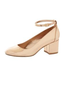 London Rebel Block Heel Ankle Strap Shoes - Shoes & Boots