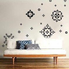 Ornamental Wall Decals | Vinyl Wall Decals | Trendy Wall Designs