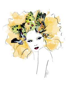 """Madame Butterfly"" Illo by Jennifer R Smith Studio"