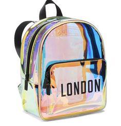 Shop All Accessories - PINK : Iridescent Mini Backpack Cute Mini Backpacks, Stylish Backpacks, Girl Backpacks, Fashion Bags, Fashion Backpack, Metallic Backpacks, Girls Bags, Cute Bags, Backpack Purse