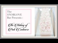 The SNOBLOVE Bar Presents: The Making of Pink Cashmere Bar a Cold Process Soap - YouTube