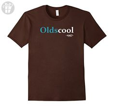 Mens Oldscool 1957 Shirt Funny 60th Birthday Gift Idea Old School Small Brown - Birthday shirts (*Amazon Partner-Link)