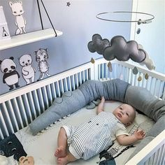 Quality Baby Bed Bumpers Newborn Crib Bumper Comforting Crocodile Doll Pillow Cushion Baby Room Decor Toys Infant Cot Protection Bedding with free worldwide shipping on AliExpress Mobile Baby Crib Bumpers, Baby Bumper, Cot Bumper, Baby Cribs, Nursery Bedding Sets, Baby Bedroom, Baby Boy Rooms, Baby Room Decor, Baby Boy Crib Bedding