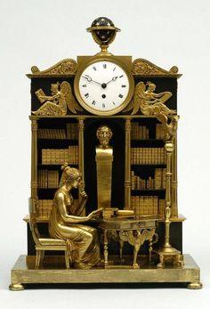 Reloj de chimenea, obra de Antoine-Amdré Ravrio, c. 1810. Bronce dorado (The Bowes Museum - Barnard Castle, Inglaterra)
