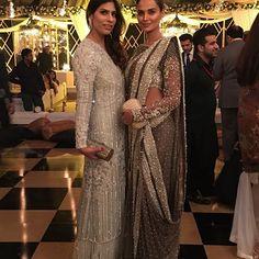 Zainab Malik & Mehreen Syed killing it in @farazmanan tonight #farazmanan #hautecouture #winter #weddings #december #farazmanandubai #lahore #dubai #london #saturday #bahria @neemarjewels