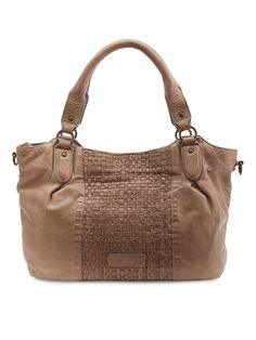 Liebeskind Dominique Bag: A beautiful soft leather bag with woven detail, zipped compartments.  -Comes with cross body strap.