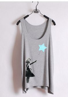 Banksy Blue Star Tank