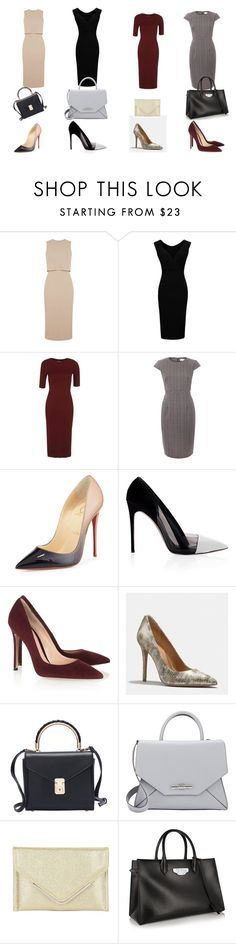 """""""Claire Underwood style"""" by ilsec ❤ liked on Polyvore featuring Topshop, Christian Louboutin, Prabal Gurung, Gianvito Rossi, Coach, Givenchy, BCBGMAXAZRIA and Balenciaga"""