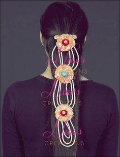 gota paranda for mehndi a Gota Patti Jewellery, Mehndi Ceremony, Handmade Jewellery, Capes, Latest Fashion Trends, Jewelry Crafts, Desi, Jewlery, Fancy