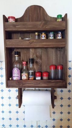 Wood pallet can be usefully utilized in the kitchen areas of your house as well. For easy use of the wood pallet we would suggest you to choose the option of the wood pallet simple spice rack. This spice rack is small in size and would occupy a small portion of your kitchen wall. You can fill it up with spice jars as it is divided into three portions.