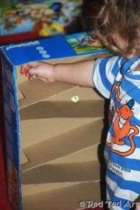a Marble Run - much asked for by my son! Very easy.. take a box, sellotape and a marble...