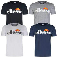 Ellesse Mens Arameo Logo Short Sleeve Tee Crew Neck Casual T-Shirt Brand New