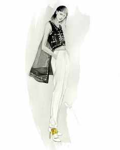 Fashion Illustrator Mengjie Di: New Commission Work for NYC Designer Angel Sanchez SS14