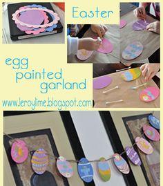 LeroyLime: Easter Egg Painted Garland