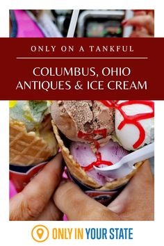 Enjoy the best antique shopping and most delicious ice cream near Columbus on this Central Ohio day trip. It's fun and family friendly! Day Trips In Ohio, Velvet Ice Cream, Best Bucket List, The Buckeye State, Hidden Beach, Banana Split, Covered Bridges, Natural Wonders, Yummy Treats