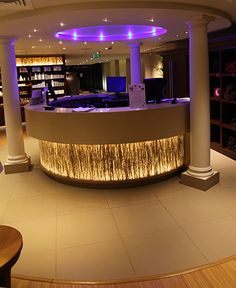 spa reception design