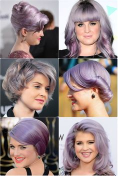 Kelly Osbourne lilac purple hair; I wish I could pull lilac purple hair!