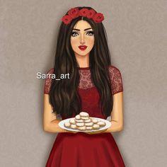 Beautiful Girl Drawing, Cute Girl Drawing, Cartoon Girl Drawing, Cute Drawings, Theme Mickey, Mother Daughter Art, Sarra Art, Dibujos Tumblr A Color, Girly M