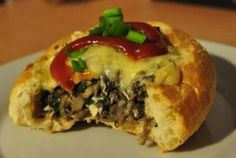 Awesome Rolls Stuffed with Mushrooms Polish Recipes, Polish Food, Spanakopita, Cheesesteak, Finger Foods, Italian Recipes, Baked Potato, Bread Recipes, Sushi