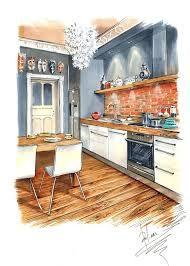 ผลการค้นหารูปภาพสำหรับ interior sketch design