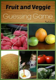 Sensory Guessing Game for Toddlers and Preschoolers with Fruits and Vegetables