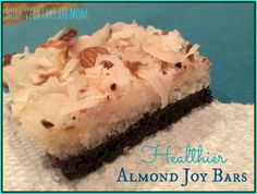Healthier Almond Joy Bar - I won't be using a microwave to melt the coconut oil.