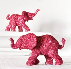 how fun ! go get dollar store toys and cover them in glitter. unnecessary but so fun !