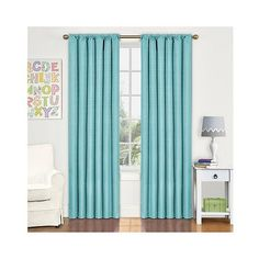 Kendall Thermaback Curtain Panel Pool Blue 17 Liked On Polyvore Featuring Home Target CurtainsBlue CurtainsOutdoor CurtainsEclipse