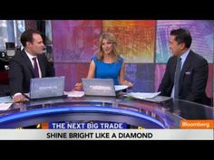 """April 3 (Bloomberg) -- Citigroup's Oliver Chen discusses global demand for diamonds with Adam Johnson and Sara Eisen on Bloomberg Television's """"Street Smart. Street Smart, Investing, Diamonds, Bling, News, Jewel, Diamond"""