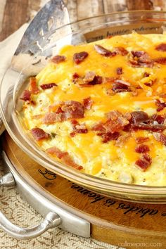Baked Potato, Bacon, Egg and Cheese Bake!!