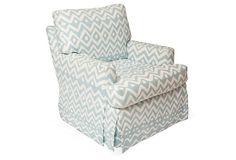 Upholstered Swivel Rocking Chair on OneKingsLane.com