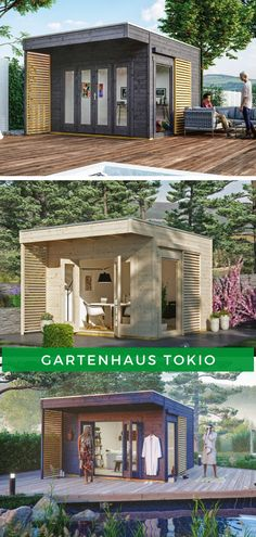 Garden house modern flat roof garden house in Tokyo. Flat Roof, Shed, Home And Garden, Outdoor Structures, Mansions, House Styles, Outdoor Decor, Home Decor, Modern Design