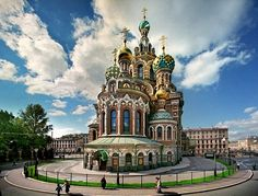 Church of Our Savior on the Spilled Blood (Church of the Resurrection of Jesus Christ) in St Petersburg, Russia - seen from east