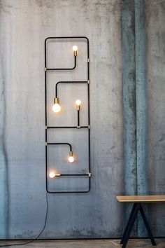 32 Inspirations of Decorative Wall Lamps - There are many types of lamp for a home. The lamp function is not only for the lighting but also for the decoration. The lamp as the decoration is usually located in certain… Continue Reading → Industrial House, Industrial Interiors, Industrial Lighting, Interior Lighting, Home Lighting, Lighting Design, Industrial Design, Industrial Furniture, Industrial Decorating