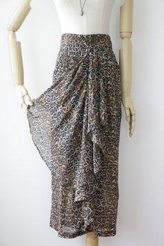 Witchy woman leopard print skirt. Floaty animal print skirt. Biker babe skirt. Cheetah skirt. Tiger skirt. Stevie skirt by ForestHillTradingCo on Etsy