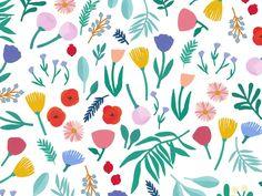 Léa Maupetit - Flowers pattern