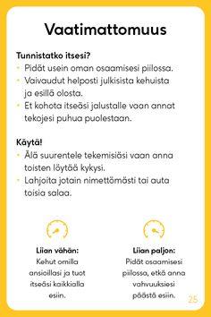 Vahvuuskortit - Positive Learning Learn Finnish, Cbt, Healthy Mind, Study Tips, Self Improvement, Self Help, Kids Learning, Psychology, Mindfulness