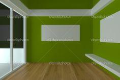 Empty room interior design for living room Interior Rendering, Interior Walls, Interior Design Living Room, Room Colors, Wall Colors, Empty Room, Small Rooms, Furniture, Ducks