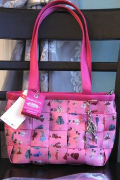 Harveys Seatbelt Bag Barbie All Dolled Up Med Tote & Matching Clutch Wallet NWT