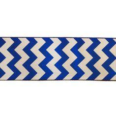 "Diaper cake? Ribbon for ""Don't say baby"" game?    IN STOCK- Royal Blue chevron ribbon - 1 1/2"" grosgrain (1 yard for $1.10)"