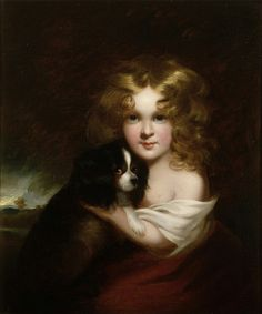 Margaret Sarah Carpenter - Young Girl with a Dog