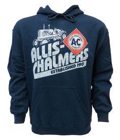 Allis Chalmers Established 1901 Navy Hooded Sweatshirt