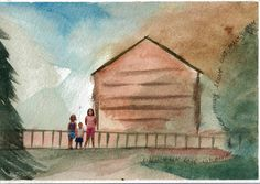 PERSONALIZED Water Color Barn Scene now available at:  www.etsy.com/shop/withloveknc    Direct Listing Link: https://www.etsy.com/listing/113672231/personalized-water-color-barn-scene