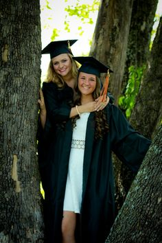 Senior pictures of cap and gown taken by Captured by Christina Photography Best Friend picture