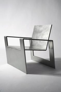 steel furniture Forrest Myers, Manifold, stainless steel chair (edition of Contemporary Furniture, Cool Furniture, Furniture Design, Furniture Removal, Contemporary Bathrooms, Furniture Online, Furniture Ideas, Table Design, Chair Design
