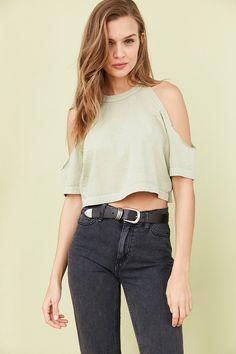 Slide View: 1: Truly Madly Deeply Courtney Cold-Shoulder Tee